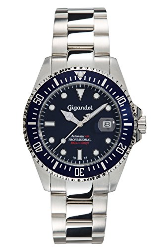 Gigandet Men's Automatic Pro Diver Watch Sea Ground Analog Stainless Steel 30atm Silver Blue G2-009