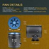 """TerraBloom ECMF-150, Quiet 6"""" Inline Duct Fan"""