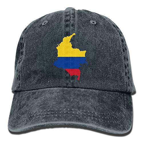 - Colombia Flag Map Unisex Adult Adjustable Baseball Dad Hat