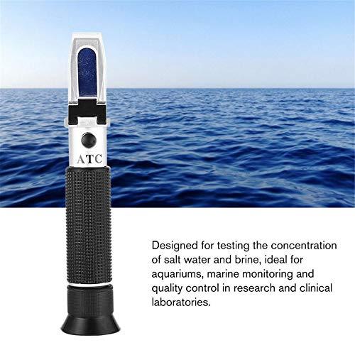 Jullyelegant Misuratore di rifrattometro di salinit/à dellAcqua di Mare a Doppia Scala Salimeter 0~10/% Strumento di misurazione per Il monitoraggio dellAcqua di Mare dellacquario
