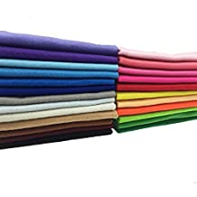 24pcs 12 x 12 inches (30cm30cm) 1.4mm Thick Soft Felt Fabric Sheet Assorted Color Felt Pack DIY Craft Sewing Squares Nonwoven Patchwork