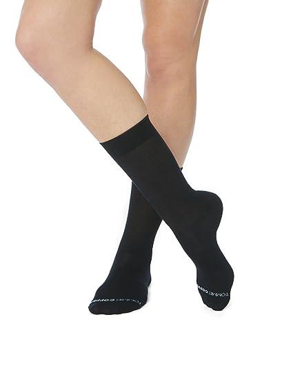 6fd796a48d Tommie Copper Women's Core Compression MicroModal Crew Socks, Black, 4-6.5