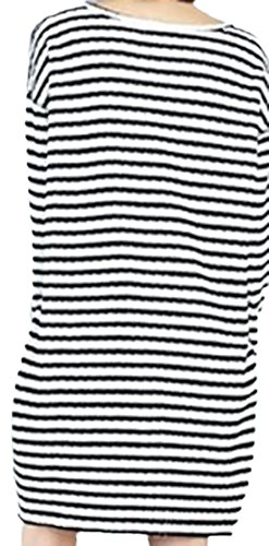 erdbeerloft - Damen Streifen Minikleid mit Taschen, Schwarz, One Size
