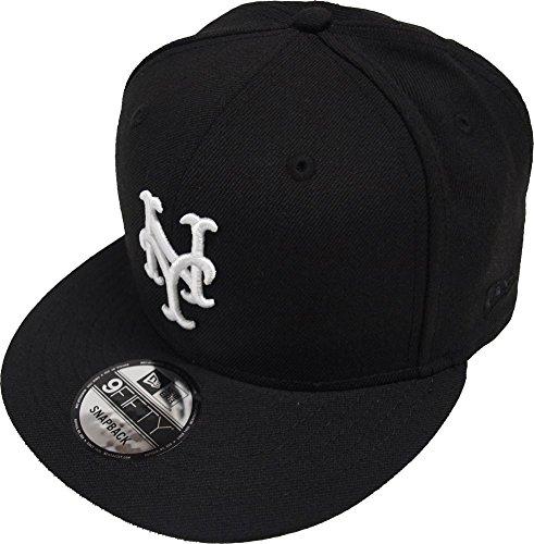 New York Mets Black Wool - New Era New York Mets Black White Logo Snapback Cap 9fifty Limited Edition