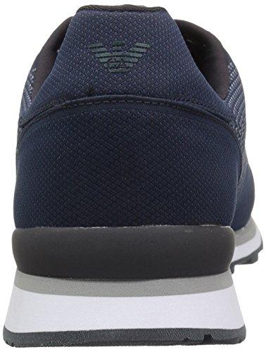 Jeans Armani Mens Maglia Dettaglio Moda Sneaker Blu