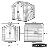 Lifetime 6411 Outdoor Storage Shed with Window, 8