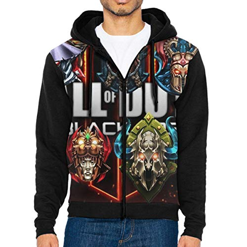 Syins Mens All Prestige Emblems for Call of Duty 2 with Hood Pocket Long Sleeves Zipper Hoodie XXL - 2 Call Of Hoodies Black Ops Duty