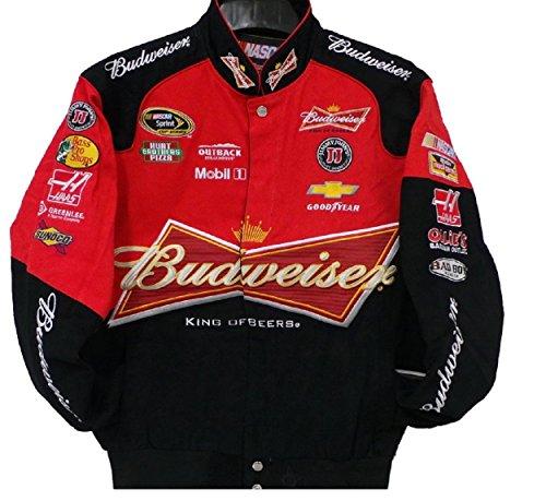 Kevin Harvick Budweiser Red Nascar Jacket Size 4XLarge