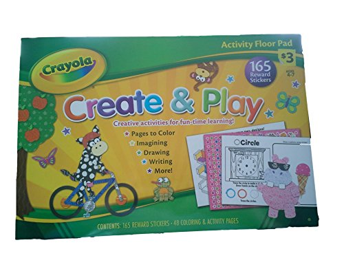 Crayola Activity Floor Pads, Create & Play and Puzzles & Games Book