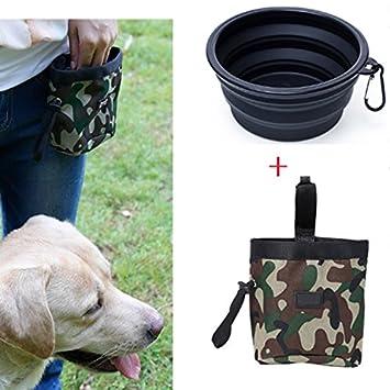 Bolsa de adiestramiento para perros con bolsas de residuos dispensador de cintura con bolso de viaje