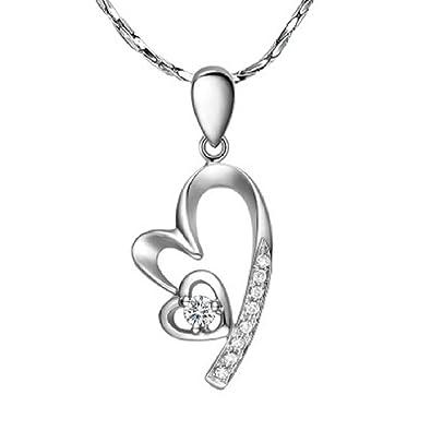 fd1b99916f Fairy Heart オープンハート 1粒ネックレス ネックレス レディース プレゼント レディース スーパーキュービックジルコニア