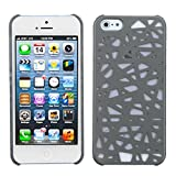 MYBAT IPHONE5HPCBK368NP Premium SuperThin Case for iPhone 5/iPhone 5S, 1-Pack, Retail Packaging, Grey Bird's Nest