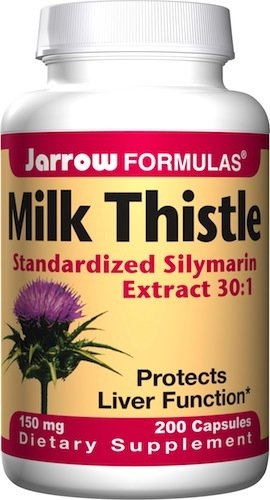Jarrow Formulas Milk Thistle standardisé de silymarine 150 mg, 200 capsules