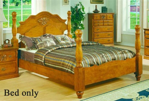 Poster Footboard - Full Size Bed with Four Posts in Pine Finish