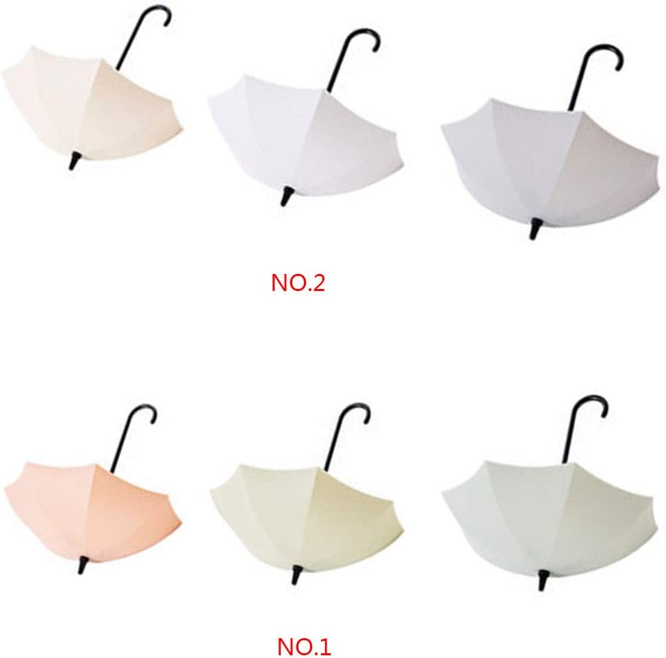 Uzinb Forma 3pcs Mini Paraguas Encantador de succi/ón Fuerte Gancho de Montaje en Pared Titular de la Clave Unmarkable Adhesivo Percha
