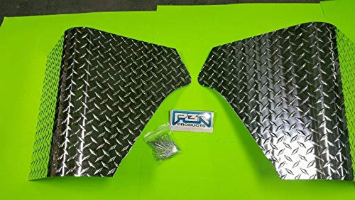 JEEP CJ 7 WRANGLER 2 PC DIAMOND PLATE REAR BODY ARMOR CORNER GUARD SLASH -