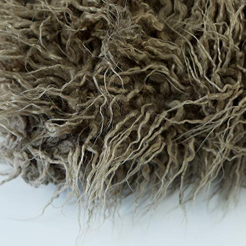 D&J DON&JUDY Newborn Photo Props Faux Fur Soft Baby Boy Girl Photo Blanket Studio Backdrop Photo Mat (Camel, 150x100cm)
