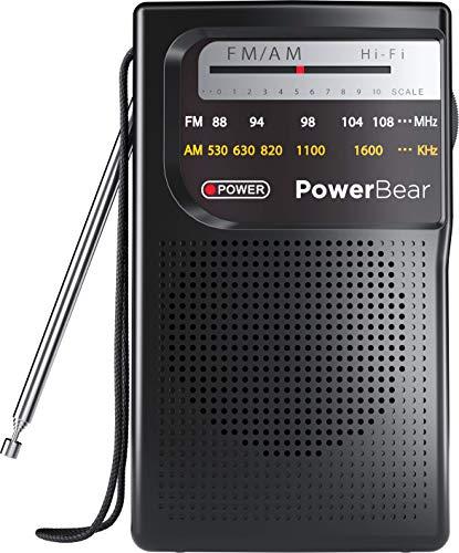 PowerBear Portable Radio | AM/FM, Battery Operated, Long Range