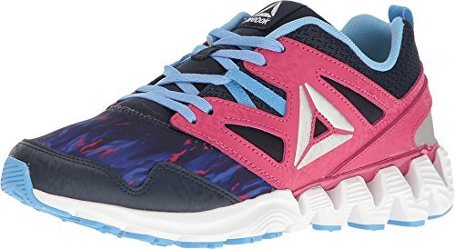 Reebok Kids Girl's Zigkick 2K17 (Little Kid) Graphic/Collegiate Navy/Pink Craze/Sky Blue/White/Silver 13 Little Kid M by Reebok