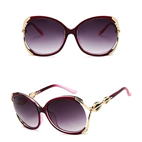 Yangjing-hl Gafas de Sol de Montura Grande de Moda Gafas de ...