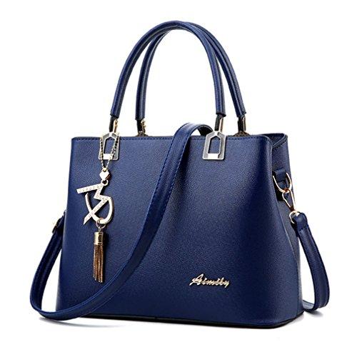 Femme à et Nouvelle Main Bleu Croisé Sac OL Mode Bandoulière Alidier haute Epaule Shopping Sacoche Foncé marque qualité BfnECBqF