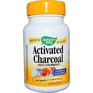 Nature's Way Charcoal Activated Caps, 100 ct