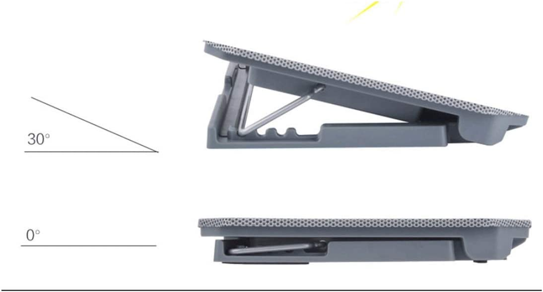 with USB to USB Cable Qiyuezhuangshi01 Notebook Cooler Computer Stand//Base Fan Heightening Bracket ,Elegant Appearance Color : Dark Gray