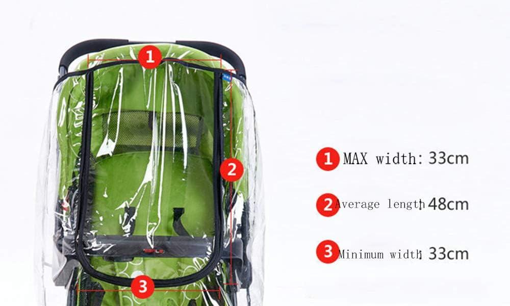 JUNSHUO Lot de 2 Habillage Pluie pour Poussette Universel Imperm/éable Multi-Protection Couverture Contre Pluie et Vent Pare-Poussi/ère Transparent pour Poussette Canne Jogger Buggy Landau