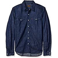 Camisa Jeans Levis Masculino Skateboarding Western Escura f670457d449