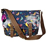 Hey Hey Handbags   Ladies Shoulder Bag Satchel Handbag, Colour : Bird Blue Oilcloth