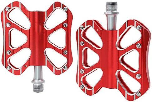 マウンテンバイクペダル-フラットフォームMTBペダル-アルミニウムサイクリングシールドベアリングペダルBMX MTB 9/16インチ用
