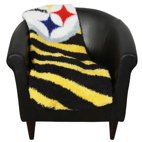 NFL Pittsburgh Steelers 50-Inch-by-60-Inch Sherpa on Sherpa Throw Blanket