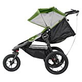 Baby Jogger Summit X3 Single Stroller, Green/Gray
