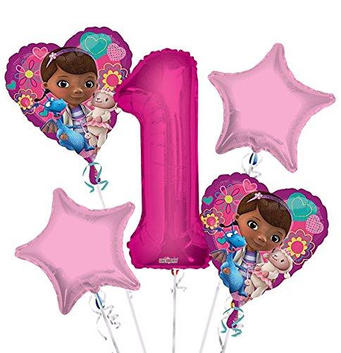 Doc McStuffins Balloon Bouquet 1st Birthday 5 pcs - Party Supplies