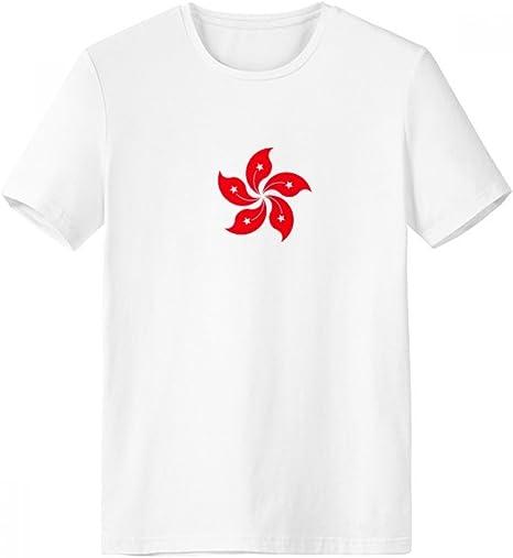 DIYthinker China Hong Kong Bandera Regional De Cuello Redondo Camiseta Blanca De Manga Corta De La Comodidad Camisetas Deportivas Regalo - Multi - XXXL: Amazon.es: Deportes y aire libre