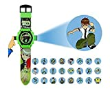 Pappi Boss - QUALITY ASSURED - Kids Special Favourite Toys - Pack of 2 Benton ( BEN 10 ) Projector Band Watch + Jelly Slim Black Digital Led Band Watch for Kids, Children