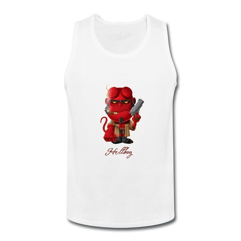 OULIN Men's Hellboy Art Vest White XXXL