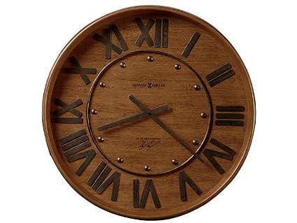 Amazon Com Wine Barrel Wall Clock By Howard Miller Heirloom Oak