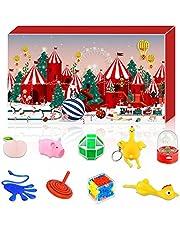 Sakmilu 2021 Adventskalender – Fidget Toys jul nedräkningskalender 24 stycken pusselleksaker för barn vuxna 24 dagar stressminskning rädsla