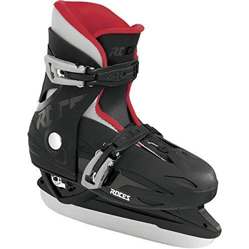 Roces 450518 Kids Model MCK II H Ice Skate, US 4-7, Black/Red
