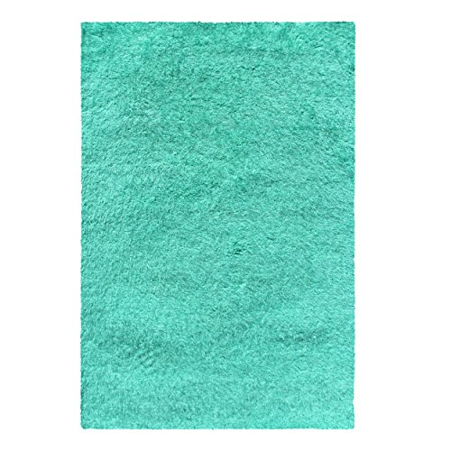 Superior Textured Shag Area Rug, Ocean Blue, 5' x 8'