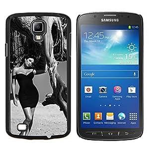 B & W Elegante Morena- Metal de aluminio y de plástico duro Caja del teléfono - Negro - Samsung i9295 Galaxy S4 Active / i537 (NOT S4)
