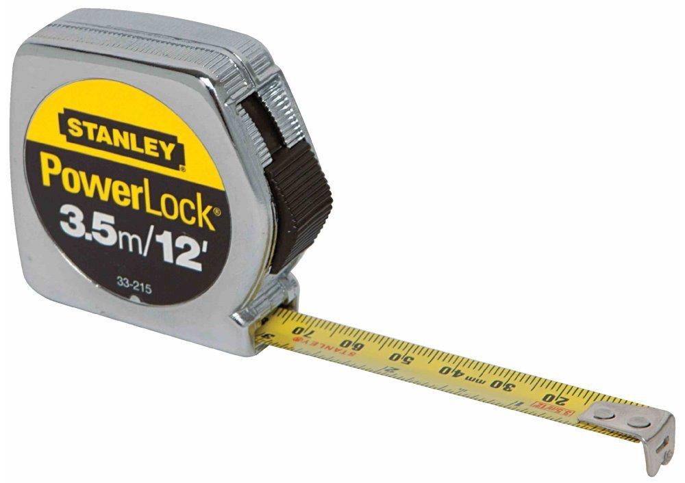 6 Pack Stanley 33-215 3.5m/12' x 1/2'' PowerLock Tape Measure - Metric / Standard Graduations by Stanley