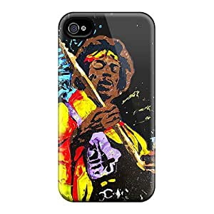 Iphone 4/4s Cover Case - Eco-friendly Packaging(jimi Hendrix Jamming)