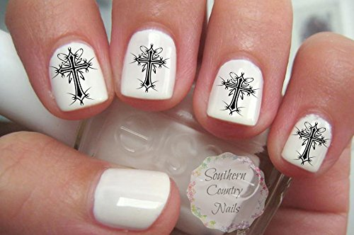 gothic-cross-nail-art-decals