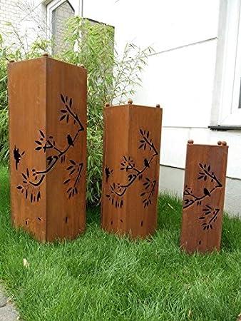 Jardín Inspiration staender para leña. Decoración bloque óxido ...