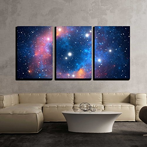 Colorful Space Star Nebula x3 Panels
