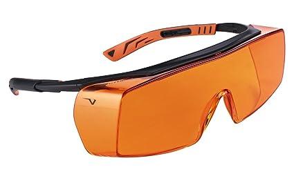 602b839cc7e Univet 5X7 Ultimate Overspecs Italian Safety Orange Work Glasses ...