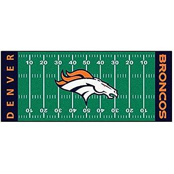 FANMATS NFL Denver Broncos Nylon Face Football Field Runner