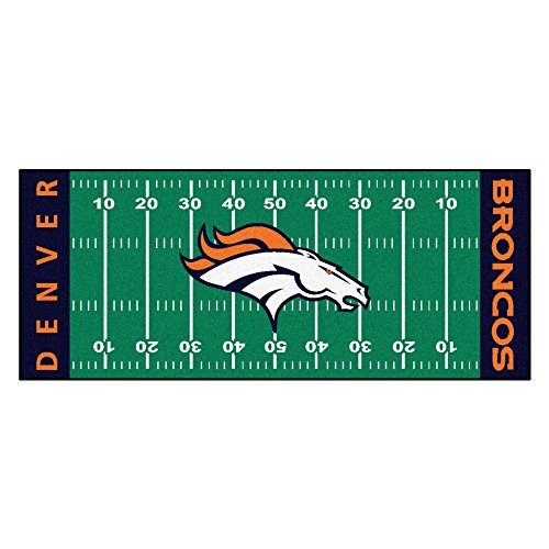 FANMATS NFL Denver Broncos Nylon Face Football Field Runner